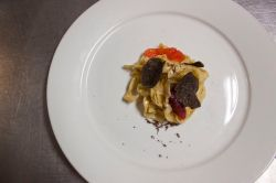 Tagliatelle, taleggio, blood orange, appalachian black truffle
